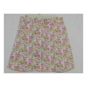 Dockers Pink Floral Print Skirt Size 14